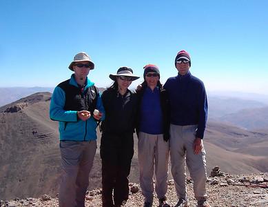 Day 4 of a 3 week trek in Morocco: summit of 2nd highest peak in North Africa (4068m)