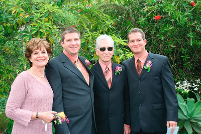Roy with his parents (Roy & Carol) and his brother Jeff, the best man