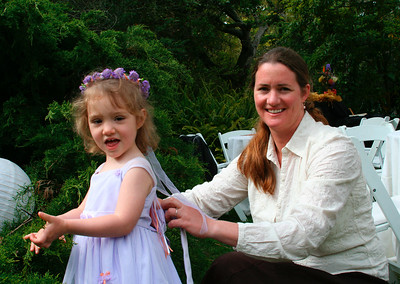 Anya (Roy's sister-in-law) and her daughter Laura who is the flower girl