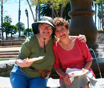 Lee (Antara's mother) & Susan (Delilah's mother) at Chase Palm Park for Friday's picnic and petanque games.
