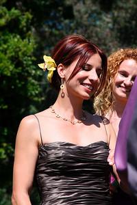 Claudia during the ceremony