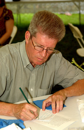 Don, busy writing the letter