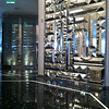 view into the wine vault in the lobby of the St. Regis Bal Harbour in Miami, FL.