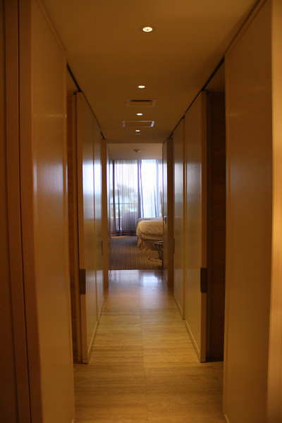 view down the hallway into bedroom at the St. Regis Bal Harbour in Miami, FL.