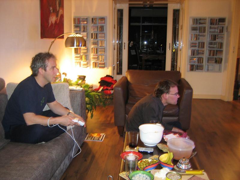 Lodewijk and I racing in Mario Kart Wii