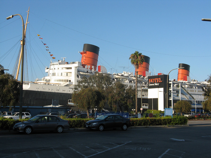 The reunion was aboard the Queen Mary.