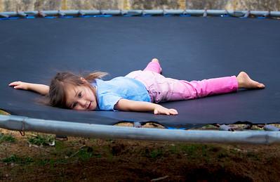 Sierra on the trampoline