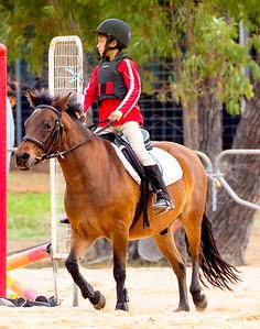 Nathaniel riding Taffy