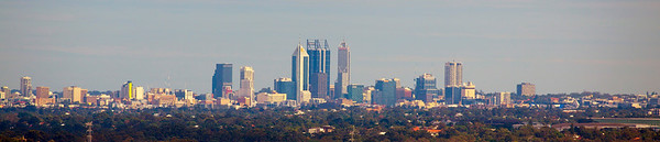 Panorama view of Perth from a  hill in Swan Valley