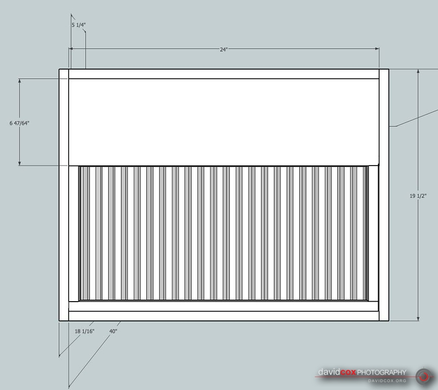 Right Side shop drawing of shop-built 3-stage air cleaner filter