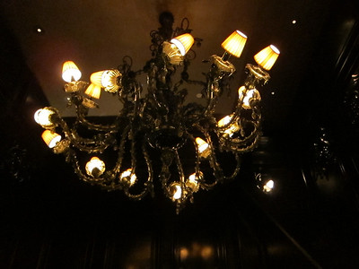 Check out this Chihuly chandelier as seen in the restaurant
