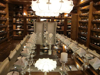It would be nice to have dinner in the Wine Cellar at The Forge