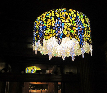Original Tiffany lamp at The Forge