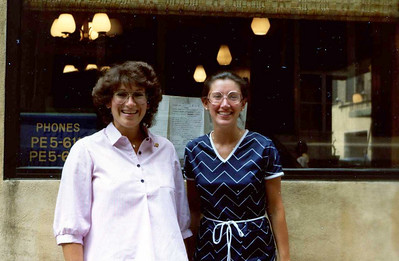 L to R: Hillary Shemin RDH and son-to-be and Rosalie DiMartino Shupik, RDH