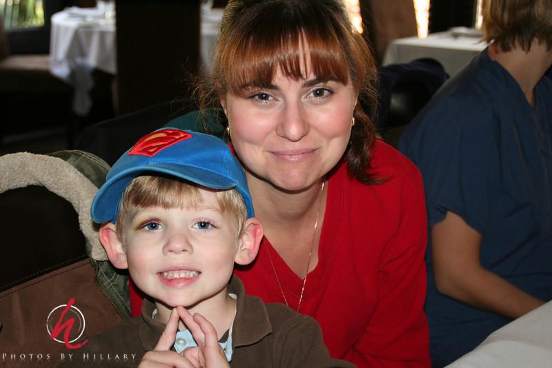 No longer shy Josh with Mom, Shauna