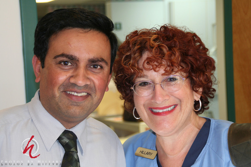 Office manager Jay and I at Floral Vale Dental Excellence where I have temped a few times.