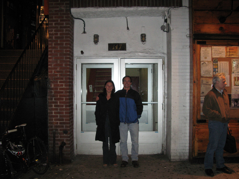 147 Bleecker.  We had to wait in a long line of tourists for our chance to stand on that hallowed ground and snap a pic.  The smell of urine was...exhilirating.  Brought me right back to 1993.