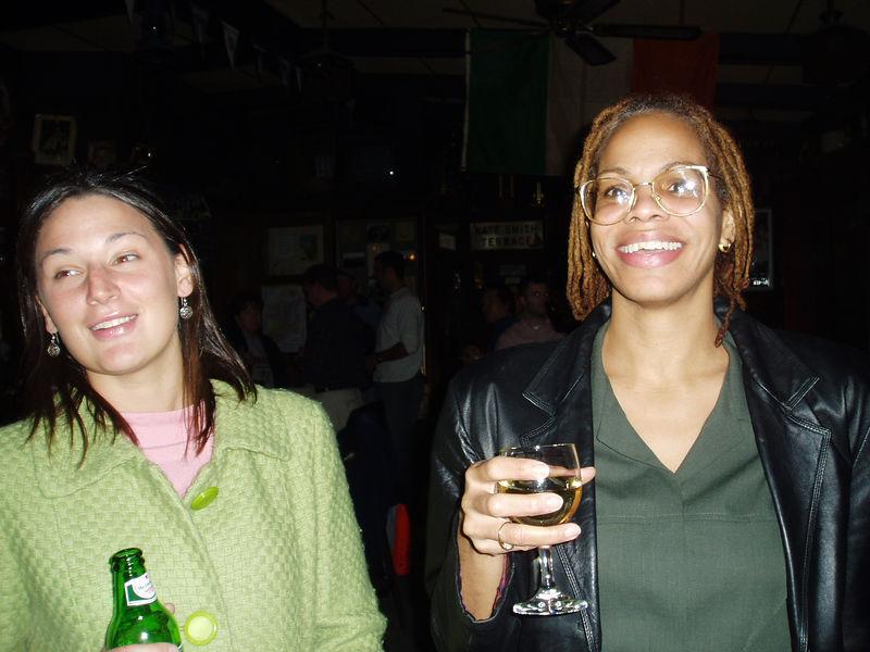 Tricia and Nan at Ed's party at the Tinker. November 2, 2005.