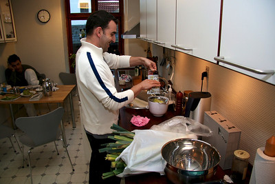 Yiannis and Panos 2005 Yiannis cooking