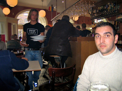 Yiannis and Panos 2005 Nice waiter...