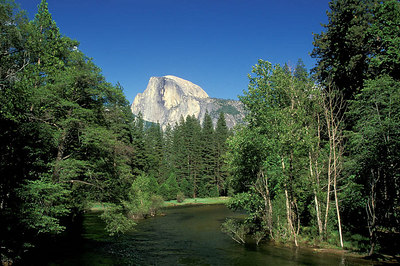 I didn't take this photo, but it's a good shot of Half Dome from the valley floor.