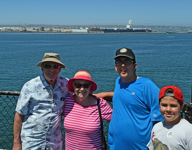 Zweibel Family on USS Midway