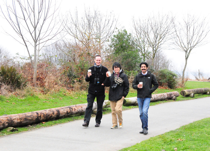 At Golden Gardens Park with Jose and Amir.  This picture was actually taken on January 19...