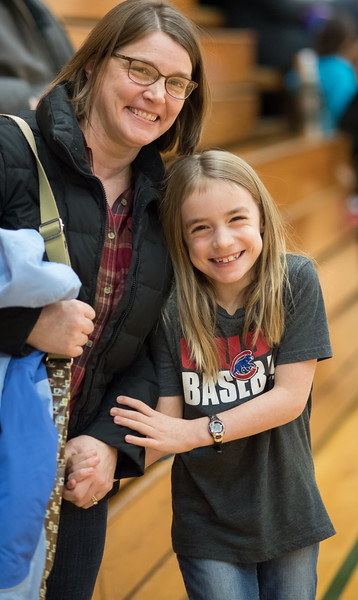 """Madelyn and Lila and the rest of the 4th Grade Huskies play their first basketball games at Multnomah University Sunday 1/15/17. Marvin Alvarez, coach (and Lila's daddy). Coach Brett, coach Frost (daughter Marlowe) and Marvin's other kids Eso and Esther. Brent and Sarah Hunsberger, Mark Halpern (Noelle Crombie's husband), Gigi, Hannah and their mom Leah Brady. Steve Cooper SE Girls Basketball. © 2017 Fred Joe /  <a href=""""http://www.fredjoephoto.com"""">http://www.fredjoephoto.com</a>"""