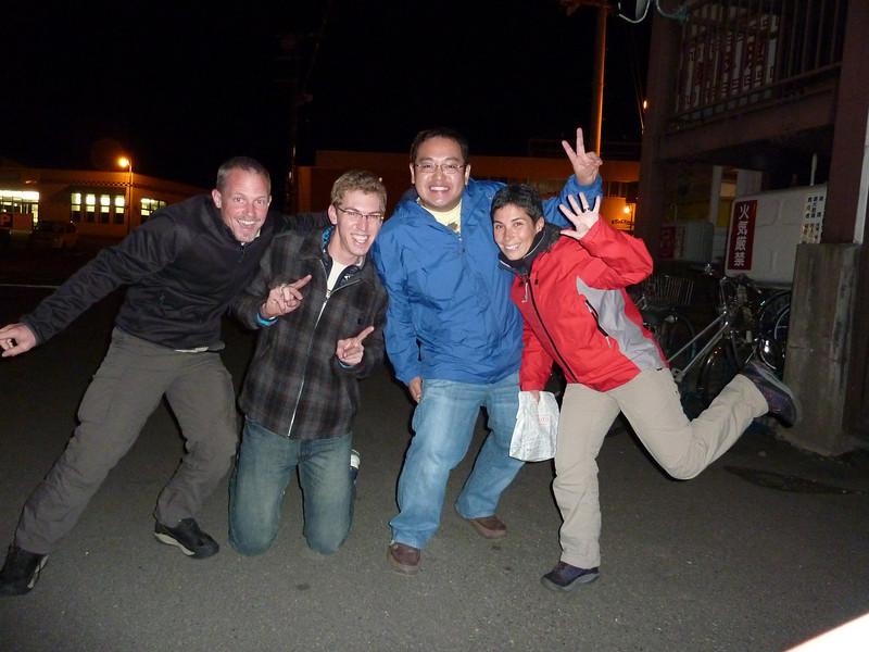From left to right: Bruno, me, Hitoshi, Patrizia