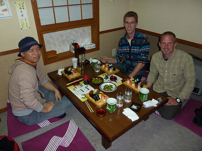 My friend Kazu was able to stop by in Shimizu and join us for some local sushi