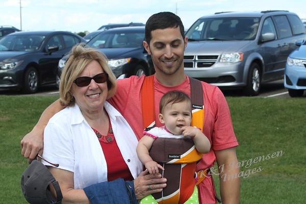 Huldah's Family at US Open - Jul 2014