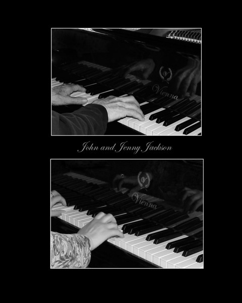 Two of the worlds greatest piano players...John and Jenny Jackson