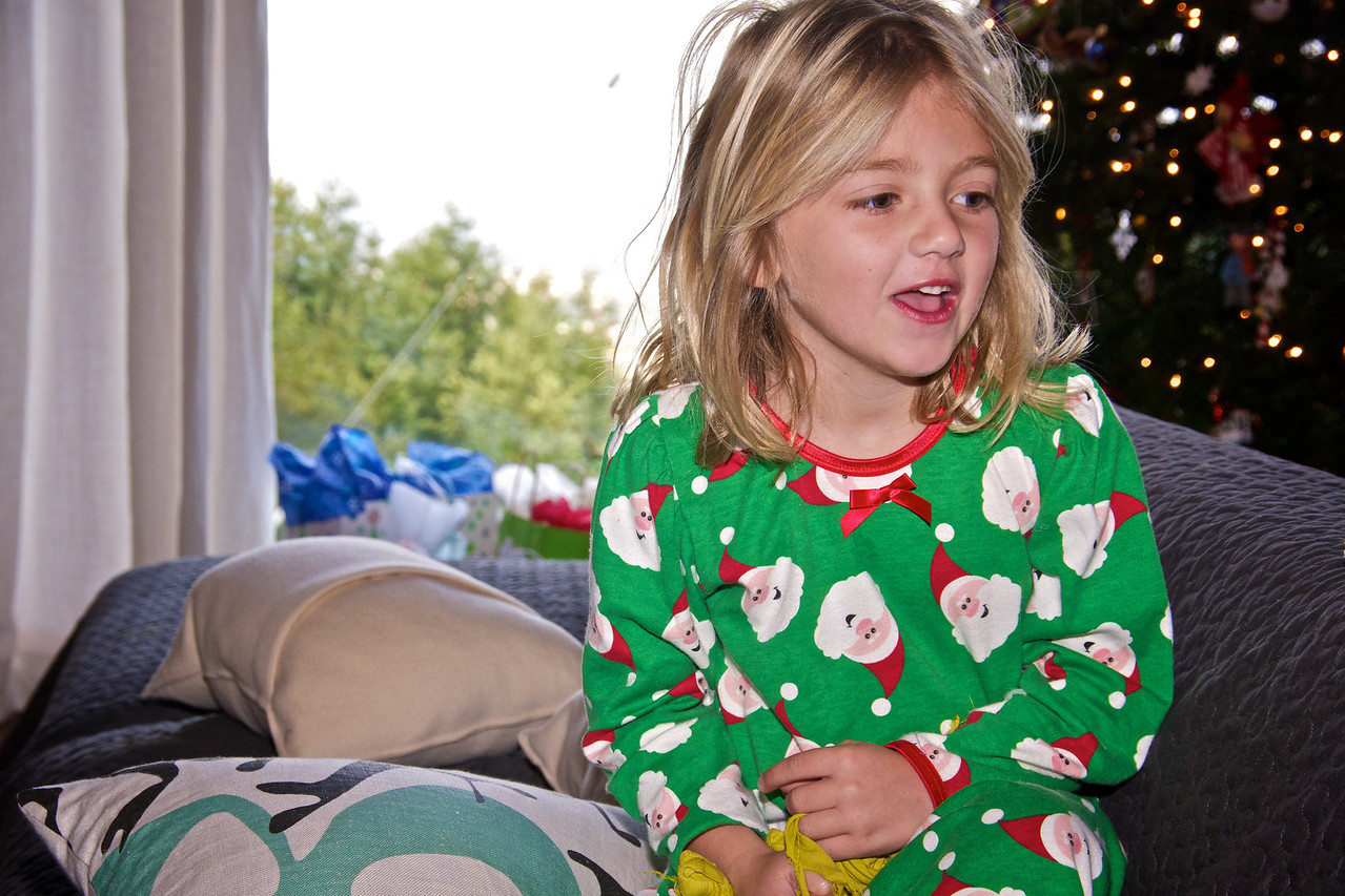 Claire Christmas morning