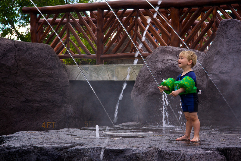 Intrigued by water feature