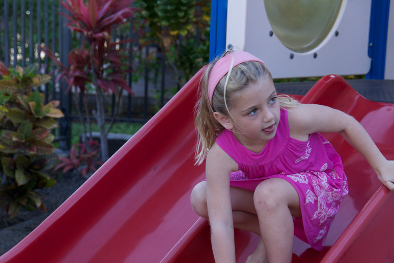 Claire on slide