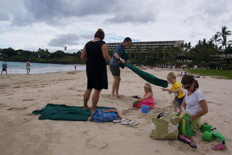 On the Mauna Kea beach Hawaii