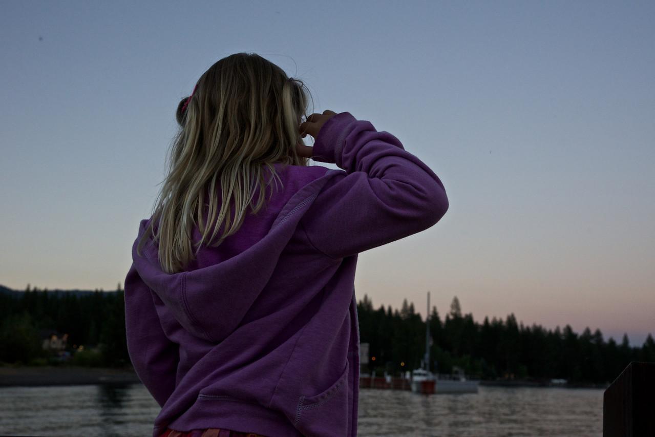 Looking at Lake Tahoe