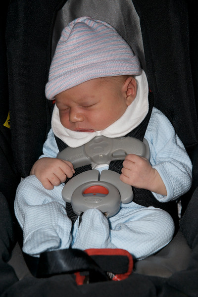 Luc Marquis Abboud - first car trip - going home