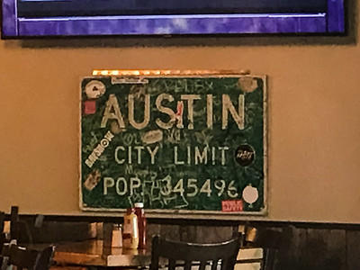 Austin City Limits Sign @ Slopeside Grill
