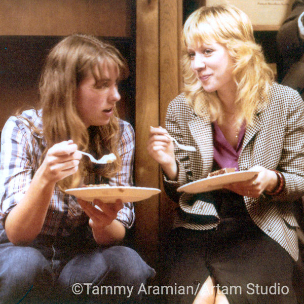 Joan Corcoran and Donalyn Pryor at one of our many office birthday parties, 1981. We worked at the law office of Bill Parrish in the basement of two connected Victorian homes on California Street in what is now known as Lower Pacific Heights.