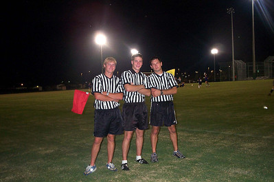 9/21/2001  JG Ferguson, Chris Kennedy, Jon Deutsch officiating a Women's Club Soccer match.