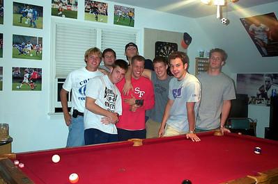 10/27/2001 ECU Club Soccer spending the night in Richmond on a road trip to play at UVA.  JG Ferguson, Jon Deutsch, Chris Kennedy, Frank, Kevin Smith, Justin Lucas, Bill Hancock, Andrew Sterner.