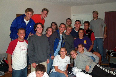 9/14/2001 ECU Club Soccer at VA Tech tournament.  Frank, Chris Kennedy, Steven, Brian Kennedy, Tyler Moneyham, April Lutheran, JG Ferguson, Kristie Petterson, Susan Gemma, Chris, Bill Hancock, Justin Dordick.