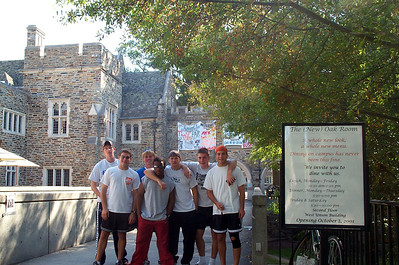 10/21/2001 ECU Club Soccer touring the Duke Campus before a match.  Brian Kennedy, Jon Deutsch, JG Ferguson, Justin Lucas, Chris Kennedy, Justin Dordick.