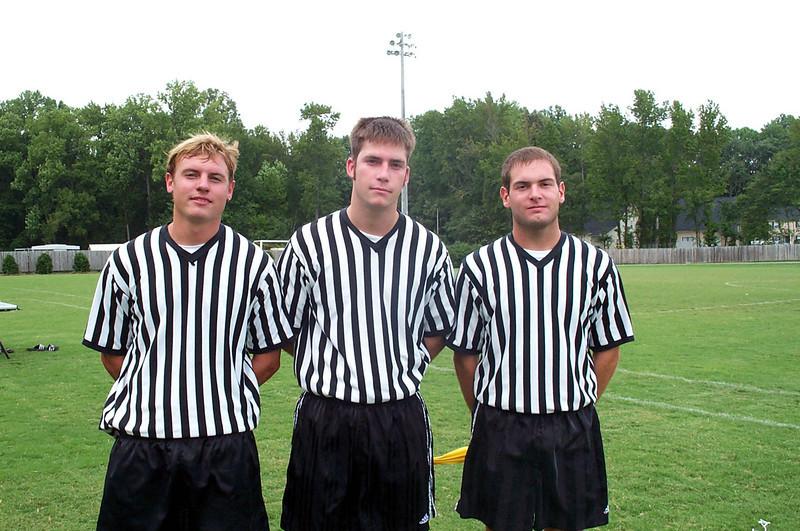 9/15/2002 Officiating Women's Club Soccer games: JG Ferguson, Chris Kennedy, Jon Deutsch.