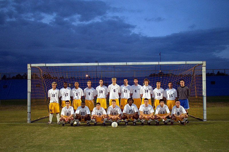 2/22/2002 ECU Club Soccer at University of Florida Tournament<br /> <br /> Joey Parker, Andrew Sterner, Garrett Cobb, Kevin Smith, Justin Lucas, DJ, Brian Kennedy, Jeff Ainsworth, Bill Hancock, Chris, Chris Walker, Justin Dordick, Jon Deutsch, Chris Kennedy, Chris Webster.