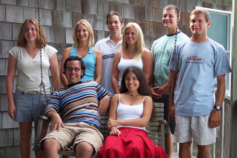 7/27/2002 Big Chill Beach Vacation<br /> <br /> Cheryl Deutsch, Steve Espinoza, Becky Merrill, Brendan Sloan, Amanda Sloan, Laura Espinoza, Matt Merrill, Jon Deutsch