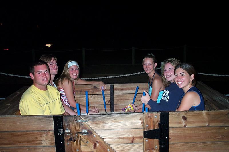 7/22/2002 Big Chill Beach Vacation - put put.<br /> <br /> Jon Deutsch, Brendan Sloan, Amanda Sloan, Becky Merrill, Cheryl Deutsch, Laura Espinoza.