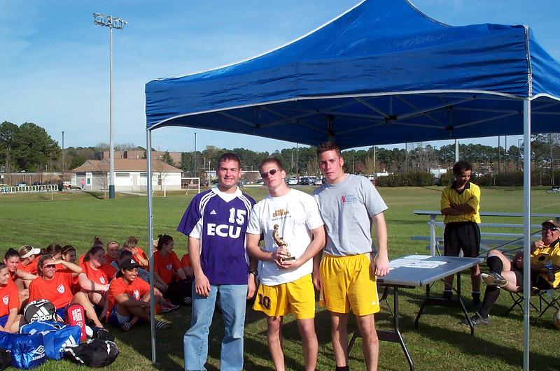 3/22/2002 ECU Spring Fling Tournament. Club captains: Jon Deutsch, Justin Lucas, Chris Kennedy.