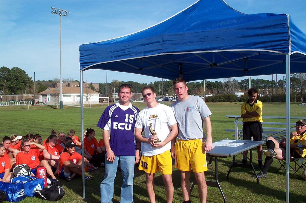 3/22/2002 ECU Spring Fling Tournament. Club captains: Jon Deutsch, Justin Lucas, Chris Kennedy.